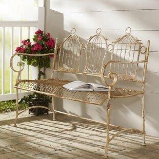 3 Birdcages Iron Bench by One Allium Way