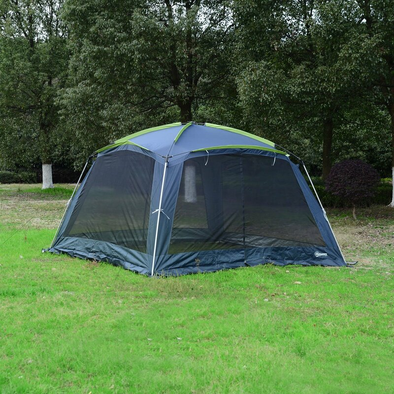Outdoor 8 Person Tent Portable Screen House Shelter & Outsunny Outdoor 8 Person Tent Portable Screen House Shelter ...