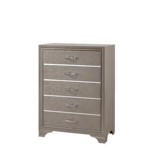 Logan 5 Drawer Chest by House of Hampton
