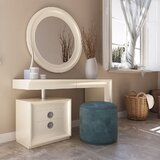 Lucan Vanity Set with Stool by Everly Quinn