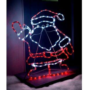 Santa 0.66m Rope Lighted Display By The Seasonal Aisle