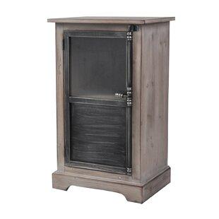 Pheonix Pine Wood 1 Door Accent Cabinet by Gracie Oaks