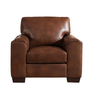 Superieur Tan Leather Armchair | Wayfair