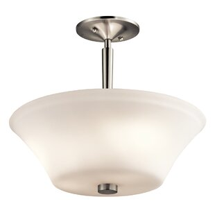 Bergstrom 3-Light Semi Flush Mount by Red Barrel Studio