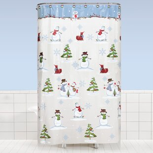 Inexpensive Braswell Woodland Winter Vinyl Shower Curtain ByThe Holiday Aisle