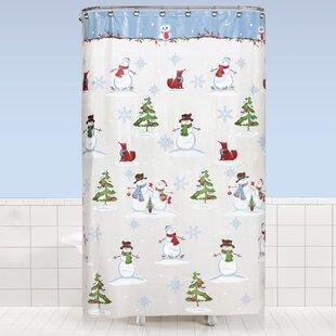 Braswell Woodland Winter Vinyl Shower Curtain ByThe Holiday Aisle