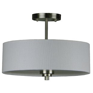 Robbinsville 3-Light Semi Flush Mount by Latitude Run