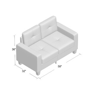 Latitude Run Tiff Modern Loveseat