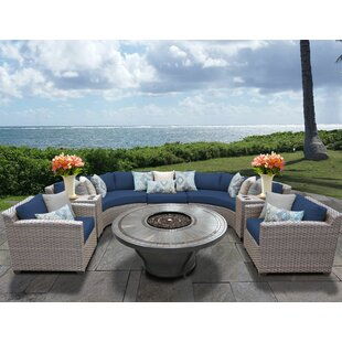 Florence 8 Piece Sectional Seating Group with Cushions