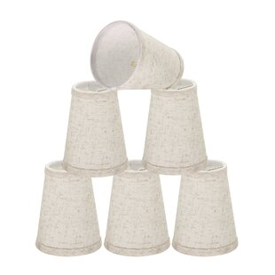 Clip On 4 Linen Empire Lamp Shade (Set of 6)