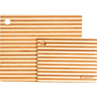 2 Piece Bamboo Prep Board Set