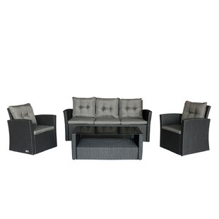 Wisbech 4 Piece Sofa Set with Cushions