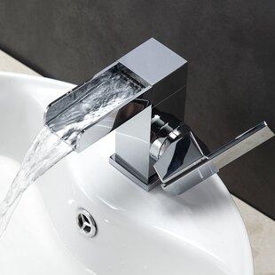 Top Reviews Aqua Fontana Single Lever Waterfall Bathroom Faucet ByKube Bath