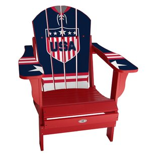 My Custom Sports Chair USA Classic Home Plastic Folding Adirondack Chair