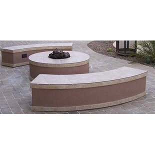Santa Cruz Concrete Gas Fire Pit Table