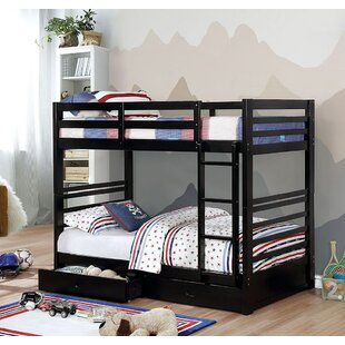 Naswith Twin over Twin Bunk and Loft Configurations Bed with 2 Drawers