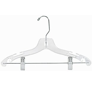 Plastic Suit Nursery Hanger with Clips (Set of 50) ByOnly Hangers Inc.