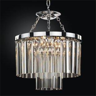 Glow Lighting Wind Chime 5-Light Crystal Chandelier