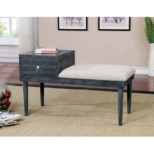 Read Reviews Ellicott Transitional Wood and Wood Storage Bench By Latitude Run