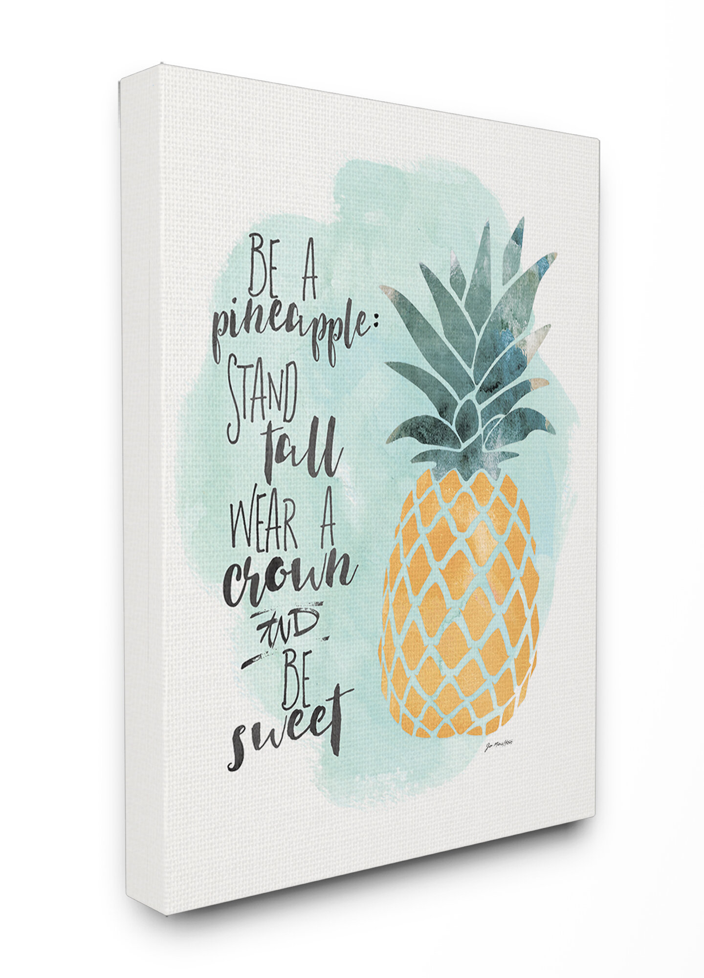 Stupell Industries Be a Pineapple Illustration Typography Textual ...