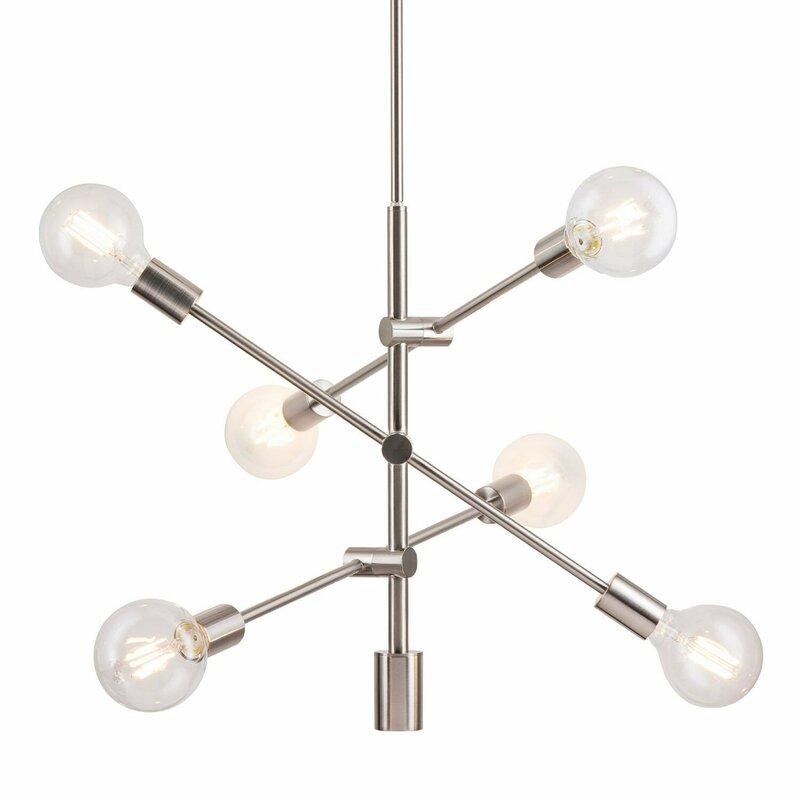 Gini 6 light sputnik chandelier reviews allmodern gini 6 light sputnik chandelier aloadofball Choice Image