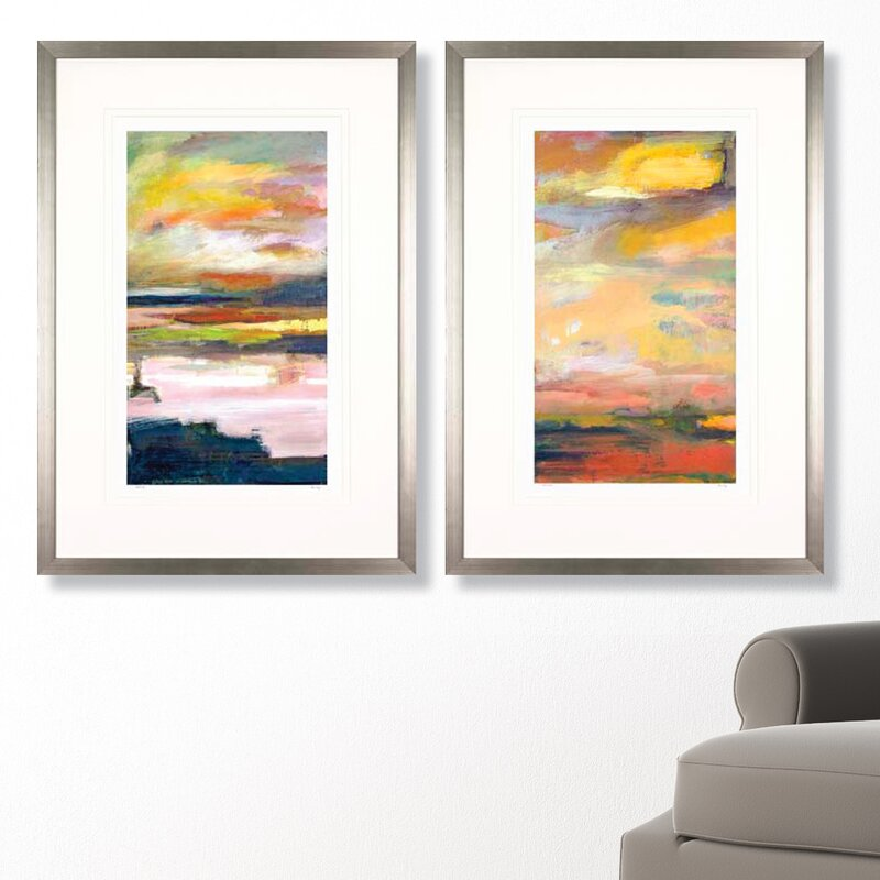 Art Virtuoso Abstract Landscapes by Mark Fetty Framed Painting Print ...