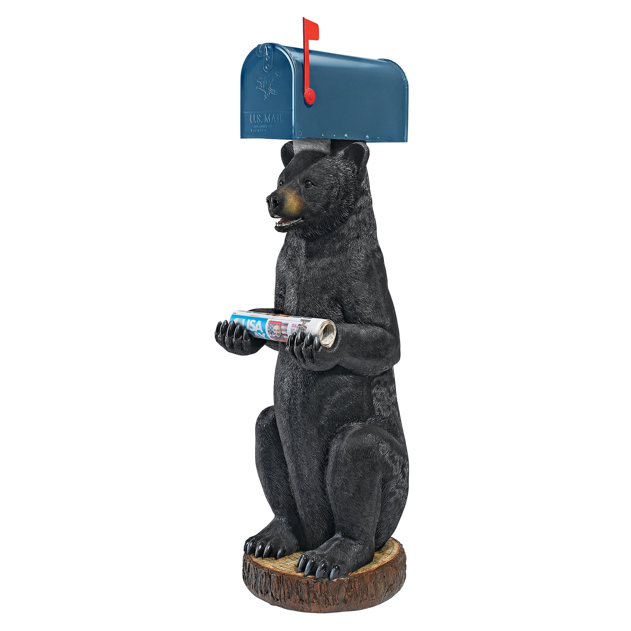 STEEL BLACK POWDER COAT FINISH ROTTWEILER  MAILBOX TOPPER YOUR  NAME