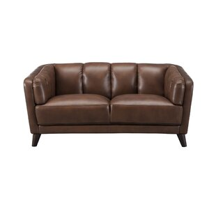 Find a Zainab Craft Leather Loveseat by Corrigan Studio Reviews (2019) & Buyer's Guide