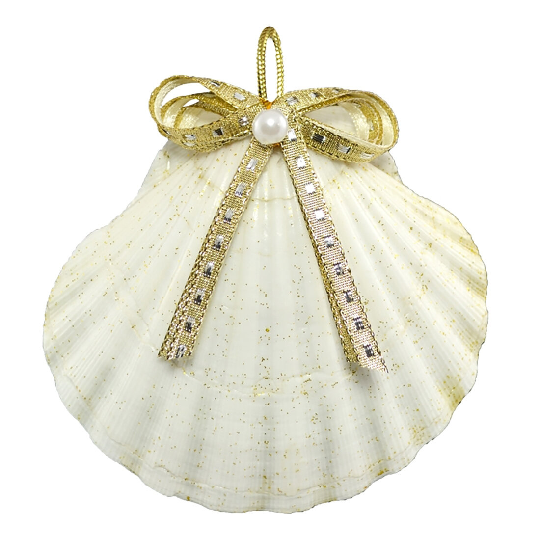 The Holiday Aisle Bow Scallop Hanging Figurine Ornament Wayfair