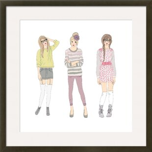 Teen Femalesu0027 By Cherry Blossom Girl Framed Graphic Art