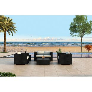 Harmonia Living Urbana 4 Piece Sunbrella Sofa Set with Cushions