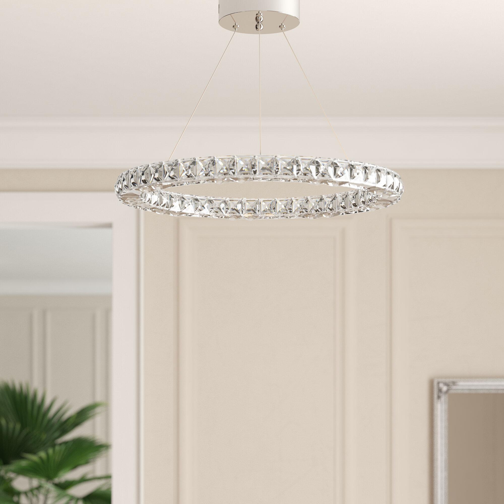 Willa Arlo Interiors 1 Light Led Crystal Pendant Reviews Wayfair Co Uk