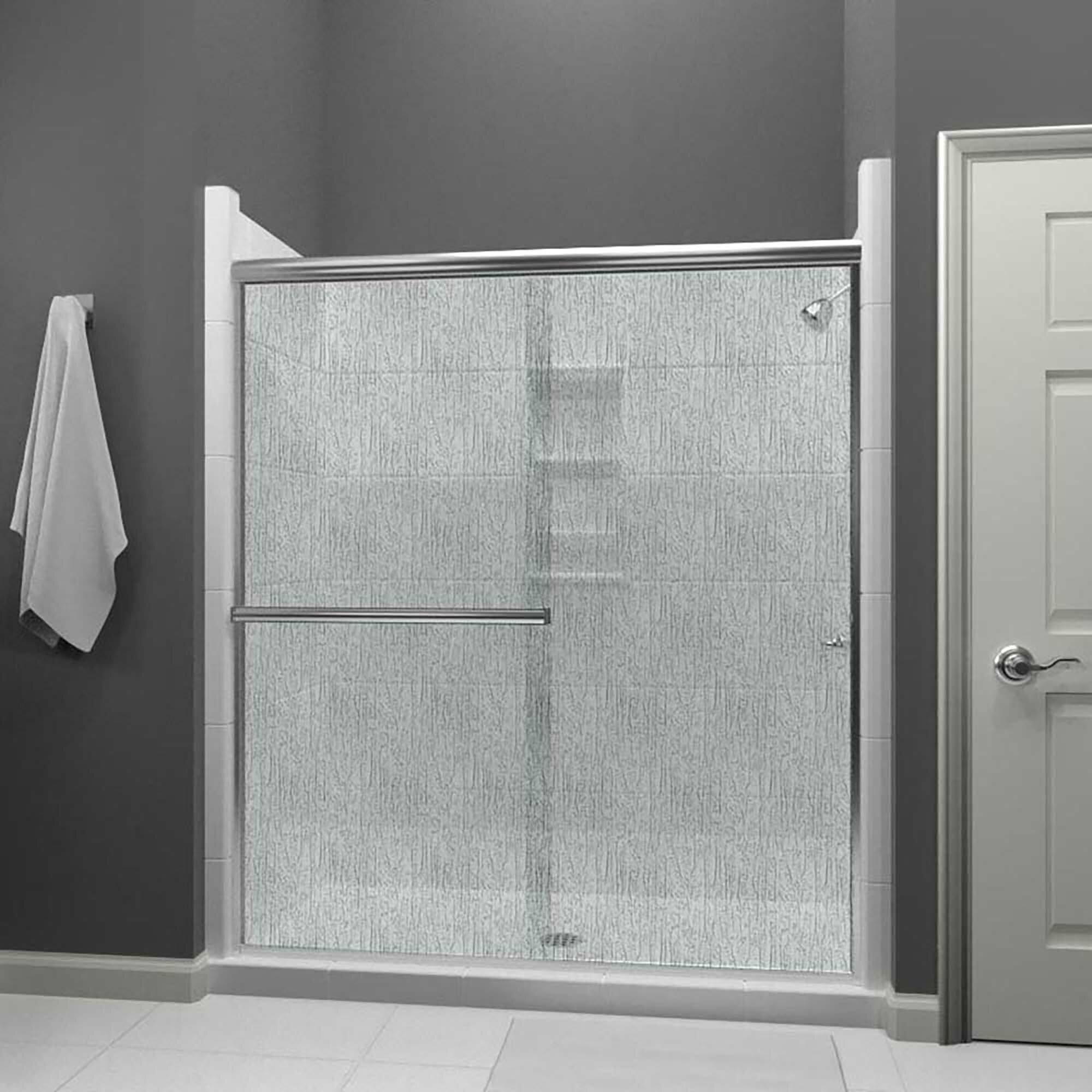 Lese 58 X 65 Bypass Semi Frameless Shower Door