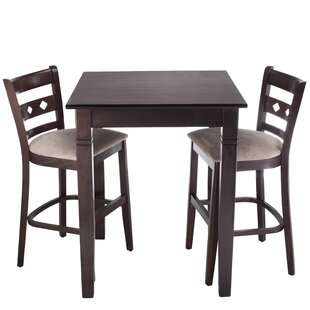 Ewell 3 Piece Counter Height Pub Table Set