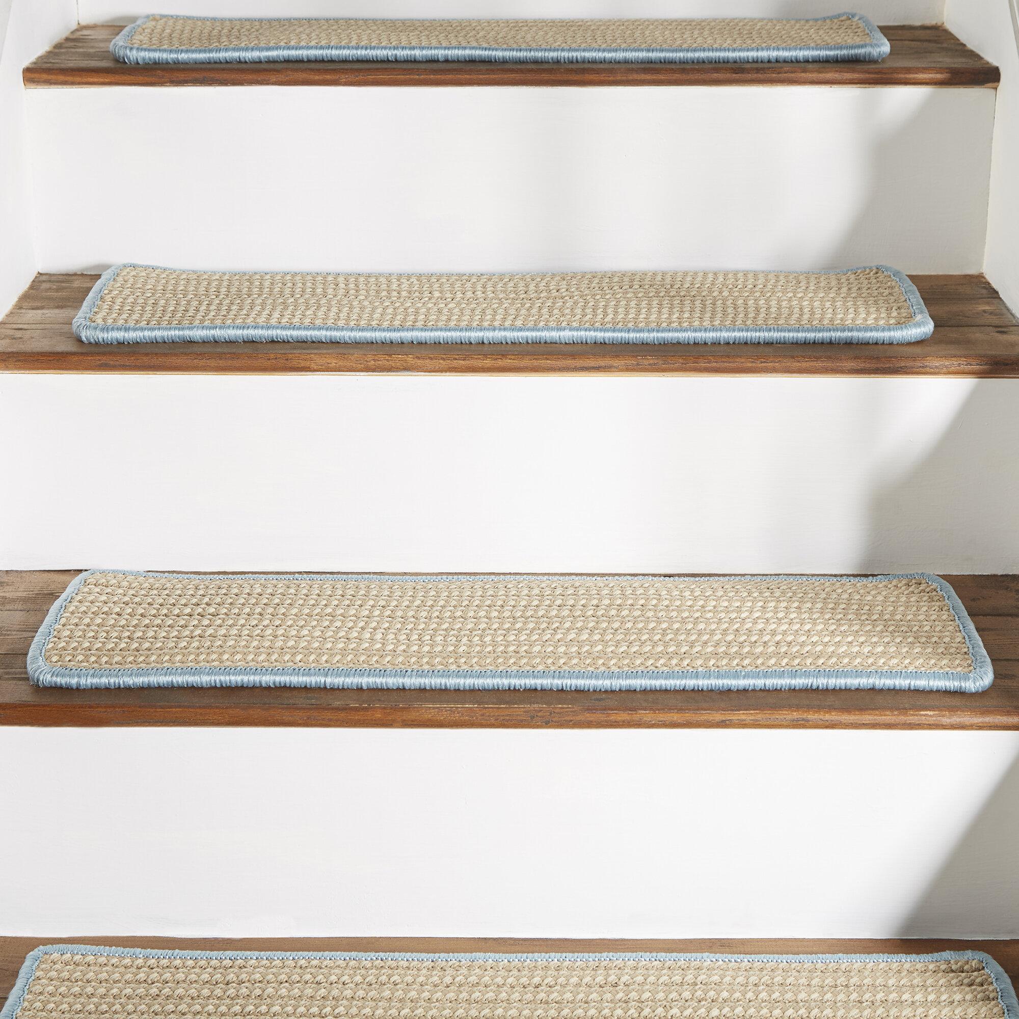 Breakwater Bay Seal Harbor Light Blue Stair Tread Reviews Wayfair