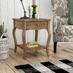 Francoise End Table With Storage by Lark Manor