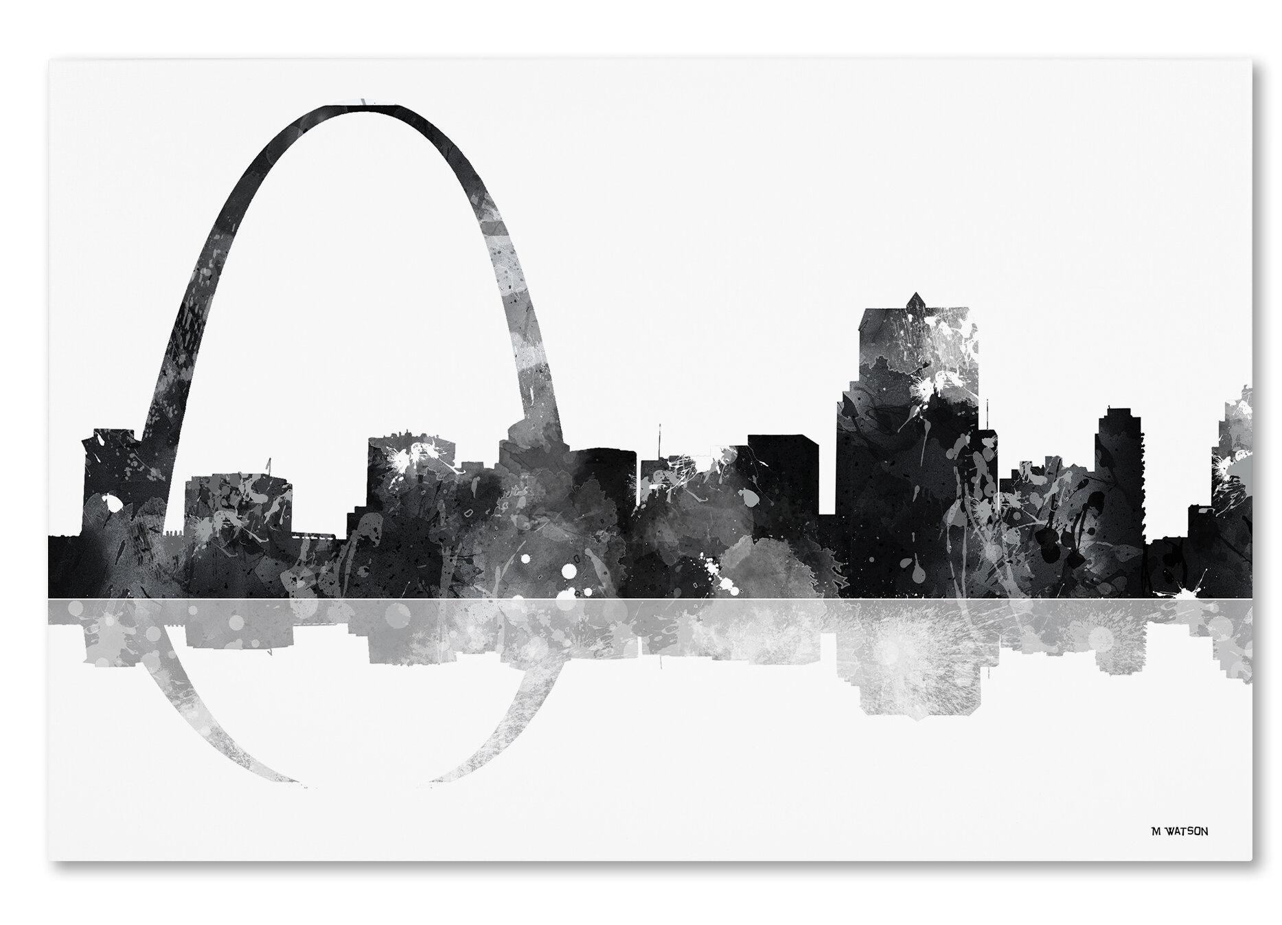 Trademark Art Gateway Arch St Louis Mo Skyline Bg 1
