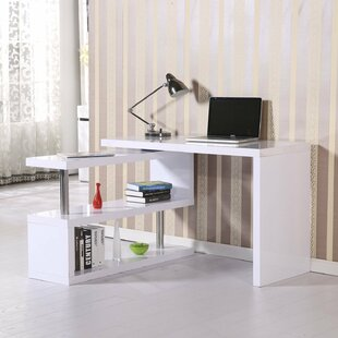 HomCom Rotating L-Shape Desk