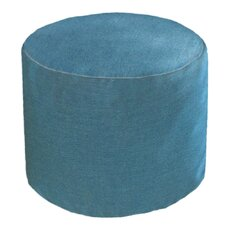 Sunbrella Outdoor/Indoor Round Pouf Ottoman by Core Covers