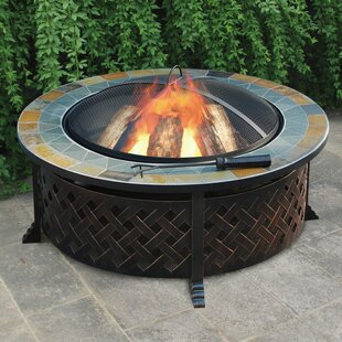 Jeco Inc. Lattice Steel Wood Burning Fire Pit Table