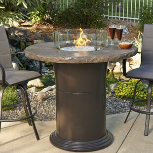 Colonial Fiberglass Gas Fire Pit Table by The Outdoor GreatRoom Company New