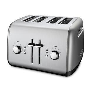 Gray with Arrow Yarwo 4 Slice Toaster Cover with Pockets and Top Handle Nylon Toaster Cover Fits for Most 4 Slice Long Slot Toasters