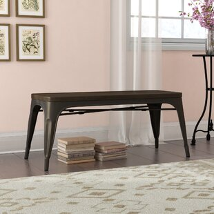 Isaac Metal/Wood Bench by Laurel Foundry Modern Farmhouse