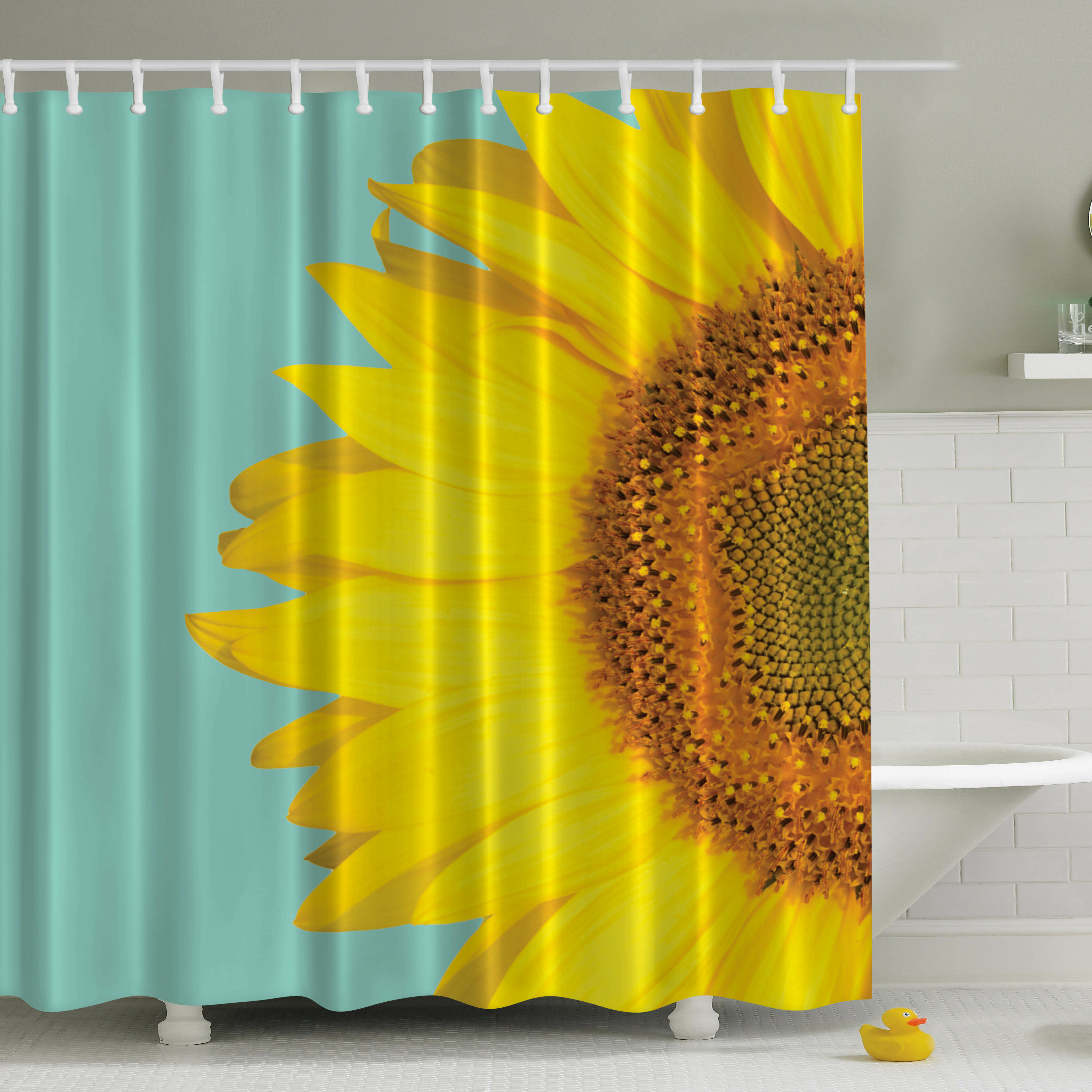 Ambesonne Sunflower Print Single Shower Curtain Reviews Wayfair
