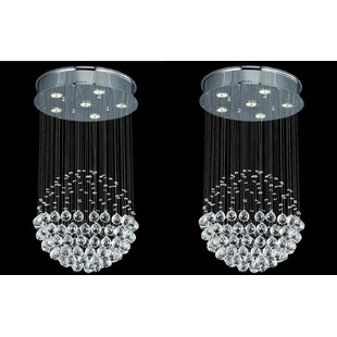 Holter Rain Drop 6-Light Chandelier (Set of 2) by Orren Ellis
