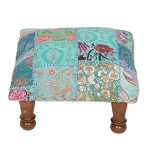 Cremont Paisley Patch Embellished India Ottoman