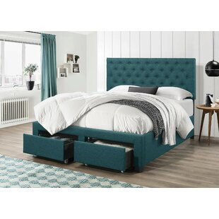 Price comparison Rhea Upholstered Storage Panel Bed by Charlton Home Reviews (2019) & Buyer's Guide