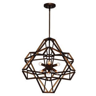 Anna-Maria 6-Light Geometric Chandelier by 17 Stories
