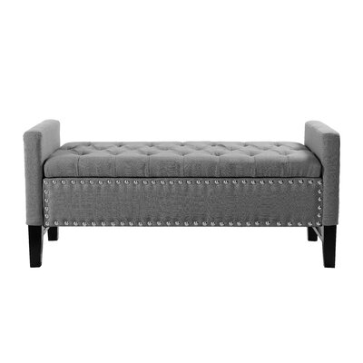 Auberge Storage Bench Upholstery: Dark Gray by Darby Home Co