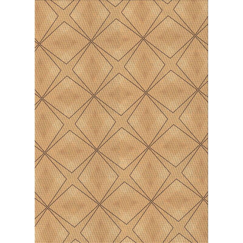 East Urban Home Geometric Wool Brown Area Rug Wayfair